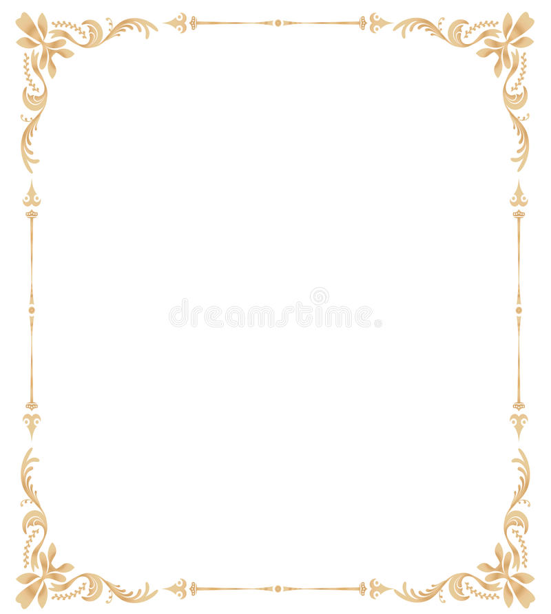 Floral Page Border And Ornate_swirl_frame Stock ...