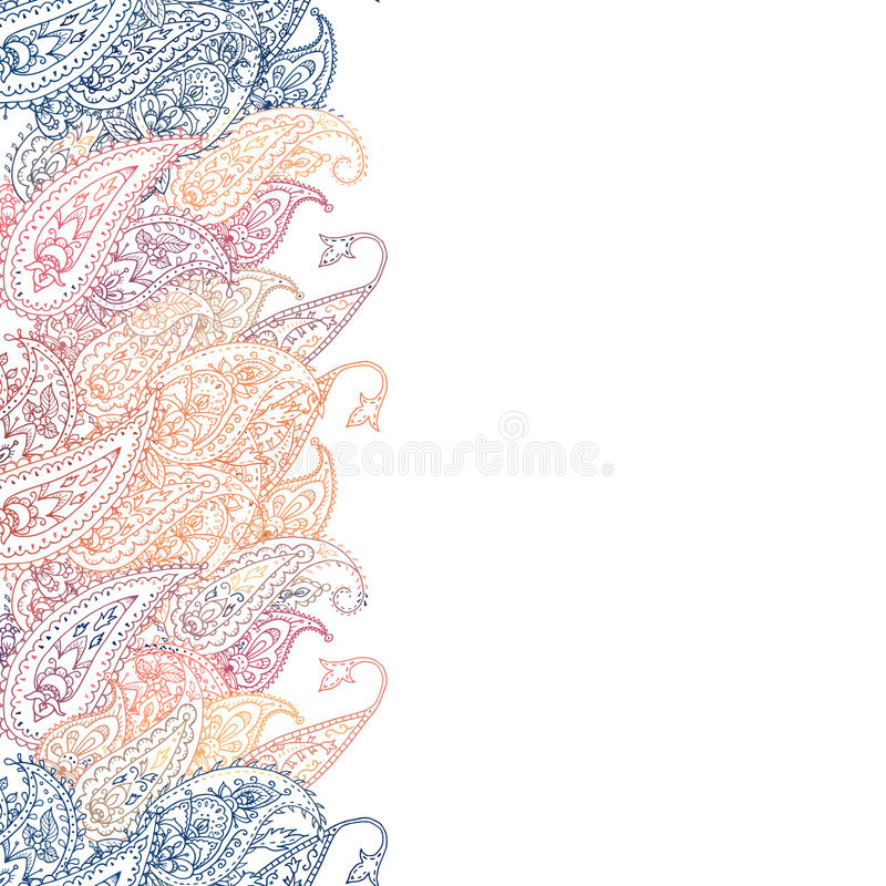 Free Floral Paisley Lace Border Stock Photo - 89369860