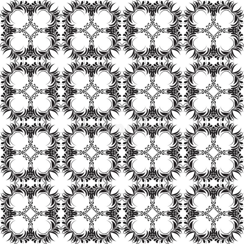 Floral Paisley vector seamless pattern. Black and white ornamental background. elegance repeat decorative backdrop. Vintage ethnic vector illustration