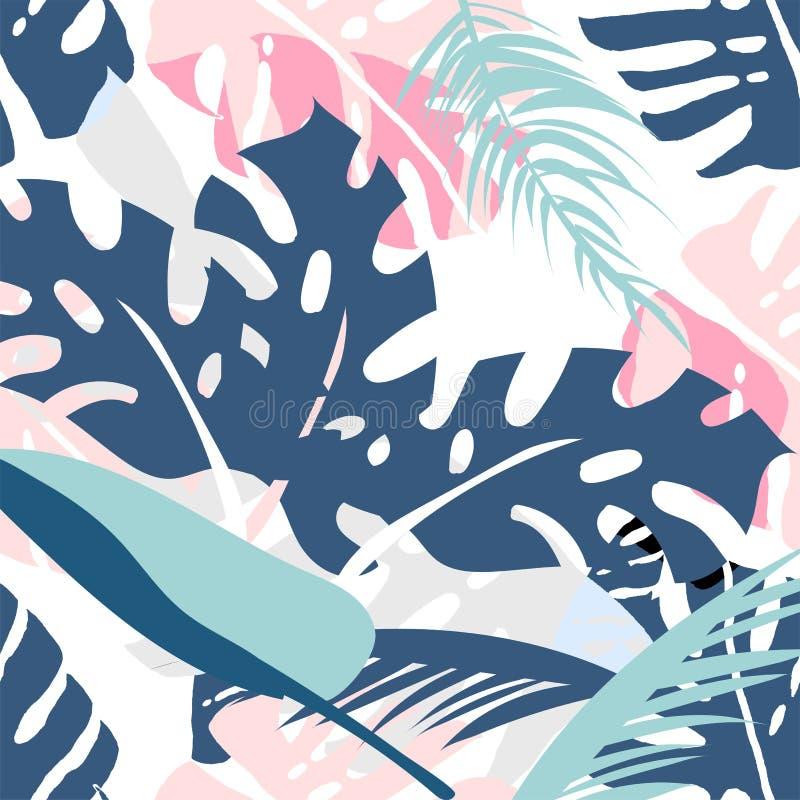 Floral palm pattern. stock illustration