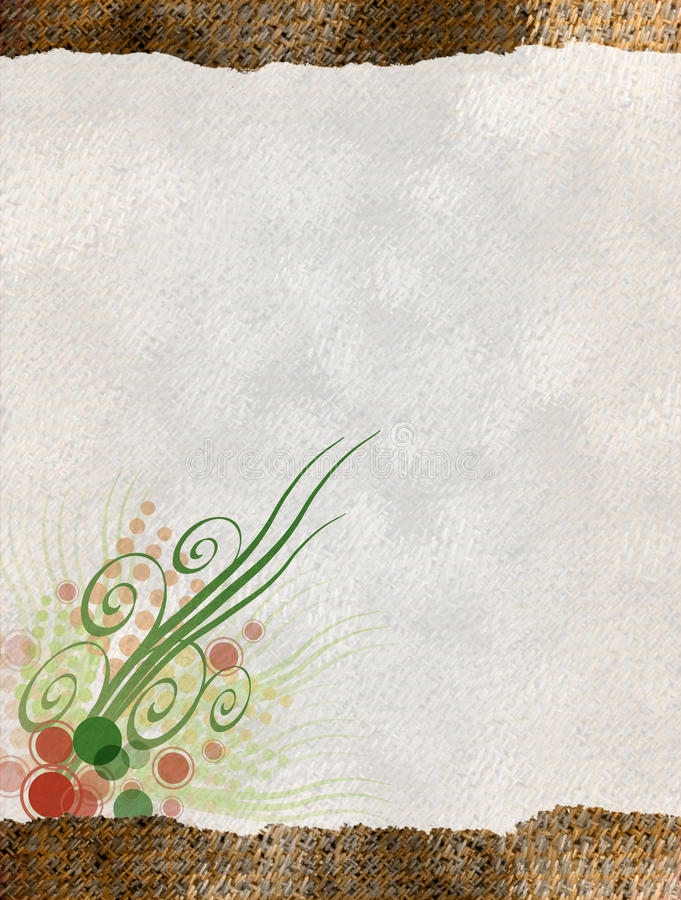 Floral Paper. This is a paper collage with a floral design royalty free illustration