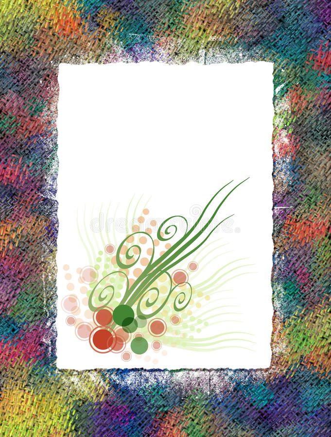 Floral Paper. This is a paper collage with a floral design royalty free stock photo