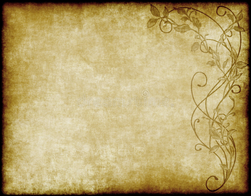 Floral paper or parchment stock illustration