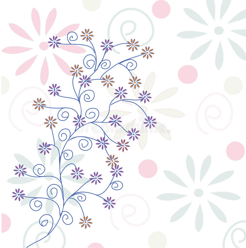 Download Floral pastel background stock vector. Image of national - 12500973