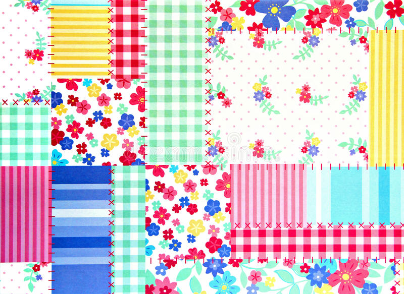 Download Floral Patchwork Background Stock Photo - Image: 28858554