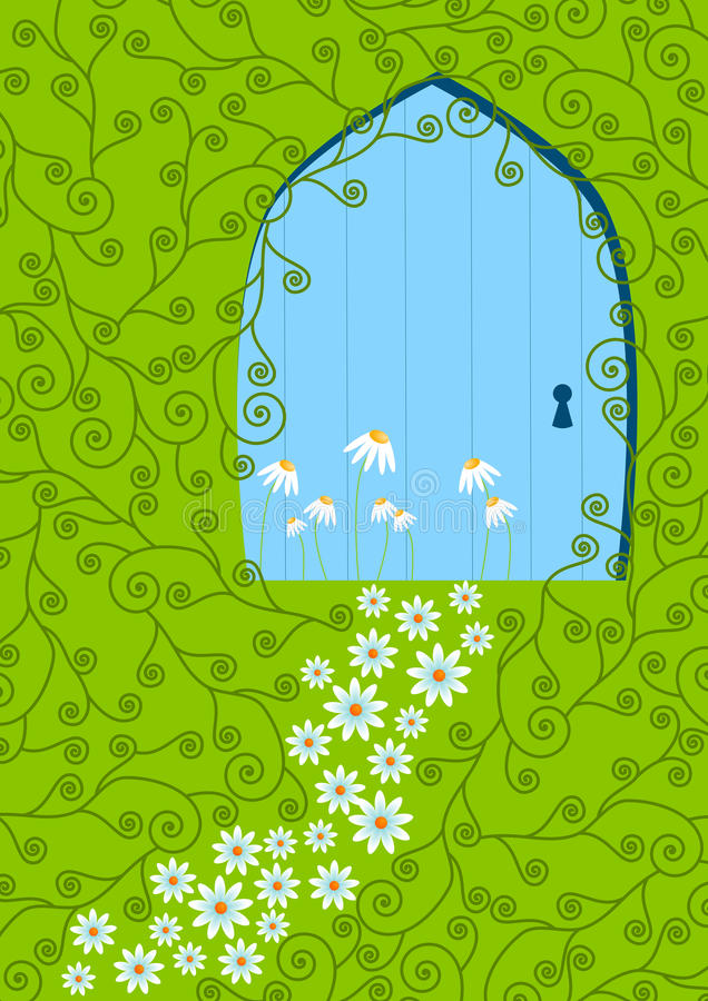 Download Floral Path And Door Invitation Card Stock Illustration - Image: 25152480