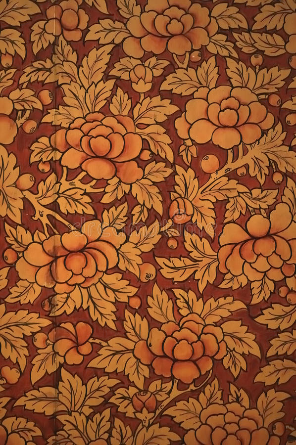 Floral Pattern. With Thai style royalty free stock photography
