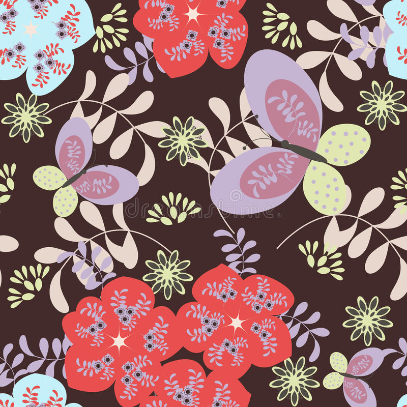 Free Floral Pattern Royalty Free Stock Photo - 17497835