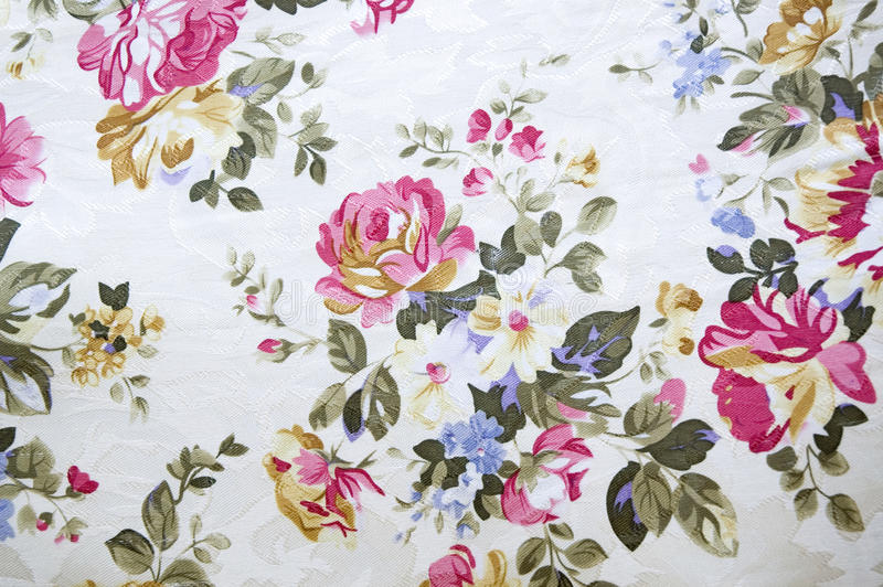 Floral pattern. Print on fabric stock images