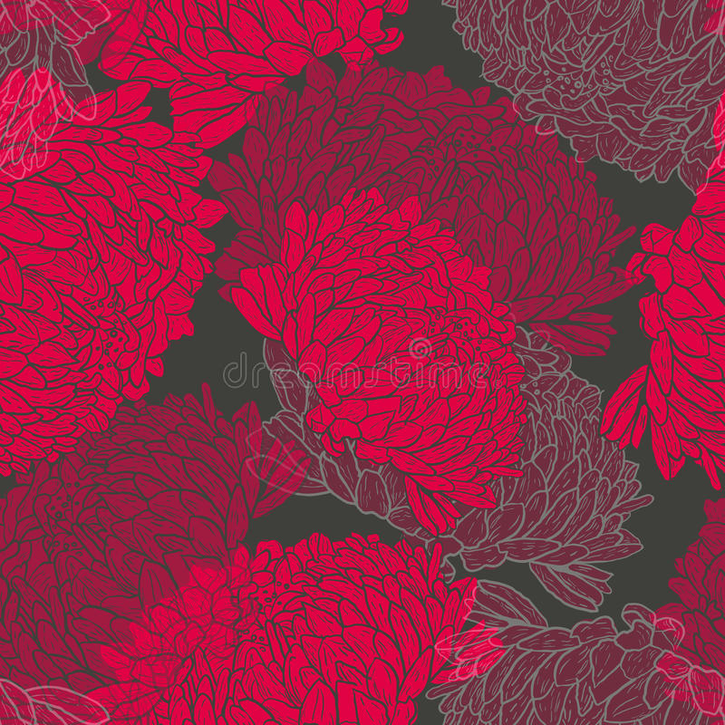 Download Floral pattern stock vector. Image of flower, fabric - 21824361
