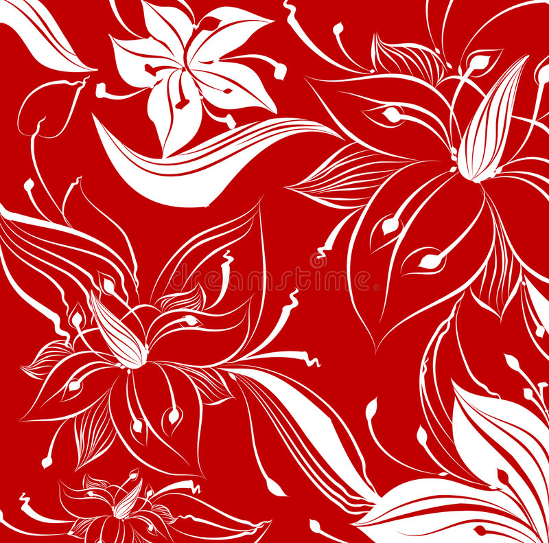 Download Floral pattern stock illustration. Image of flowers, over - 2298492