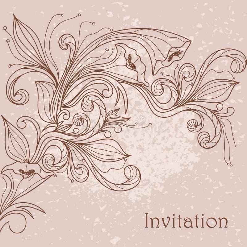 Floral pattern. Hand drawing illustration vector illustration