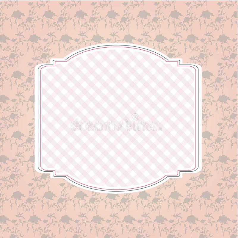 Floral pattern background and empty frame stock photography