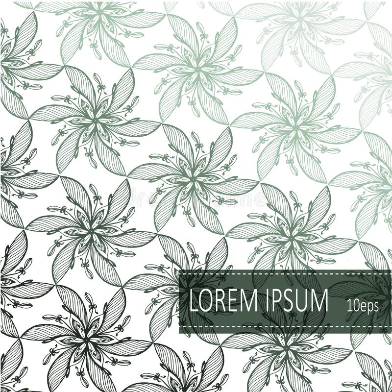 Floral Pattern background vector. For Invitation cards decoration,  wrapping, textiles, paper. stock photo