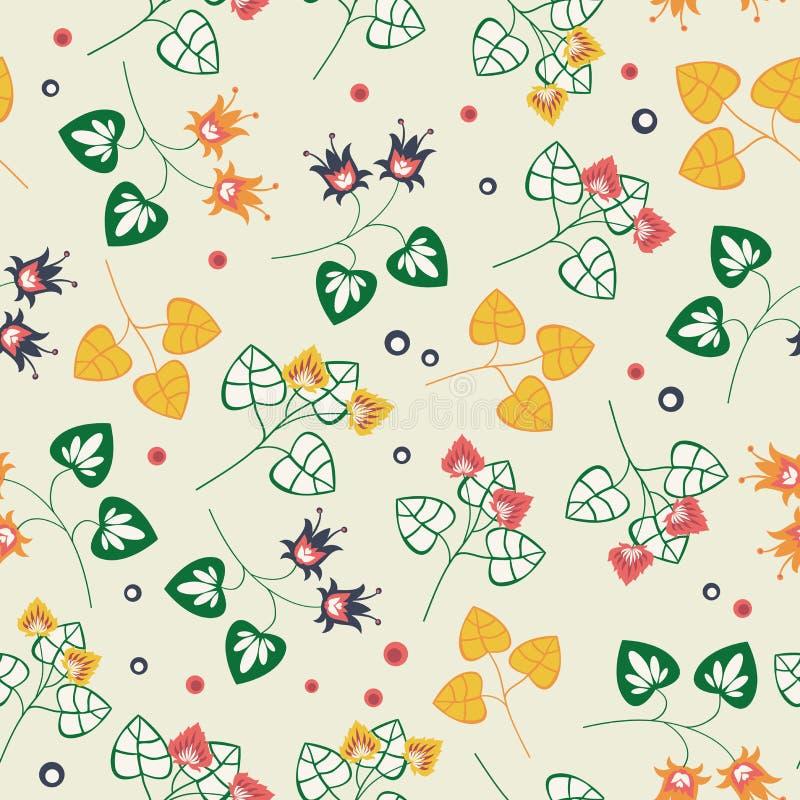 Download Floral Pattern On Beige Background Stock Vector - Image: 27300351