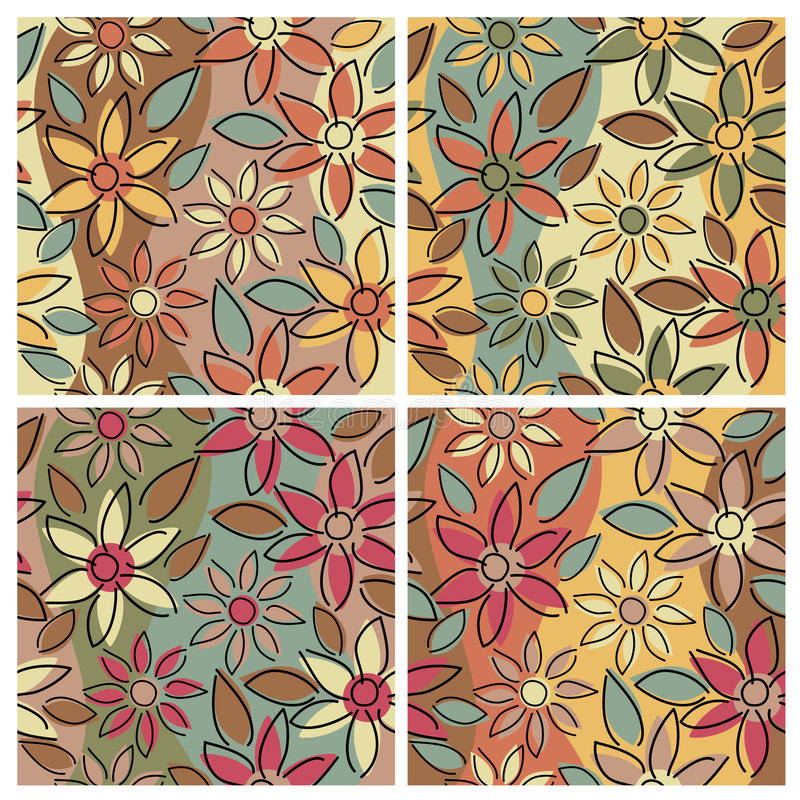 Floral Pattern_Earthy royalty free illustration