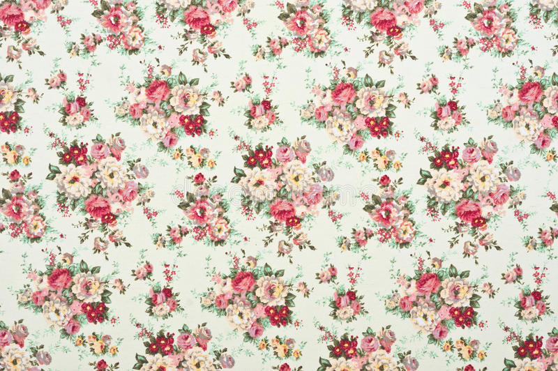 Floral pattern fabric. Texture, print and wale of fabric in seamless beautiful floral pattern stock photography