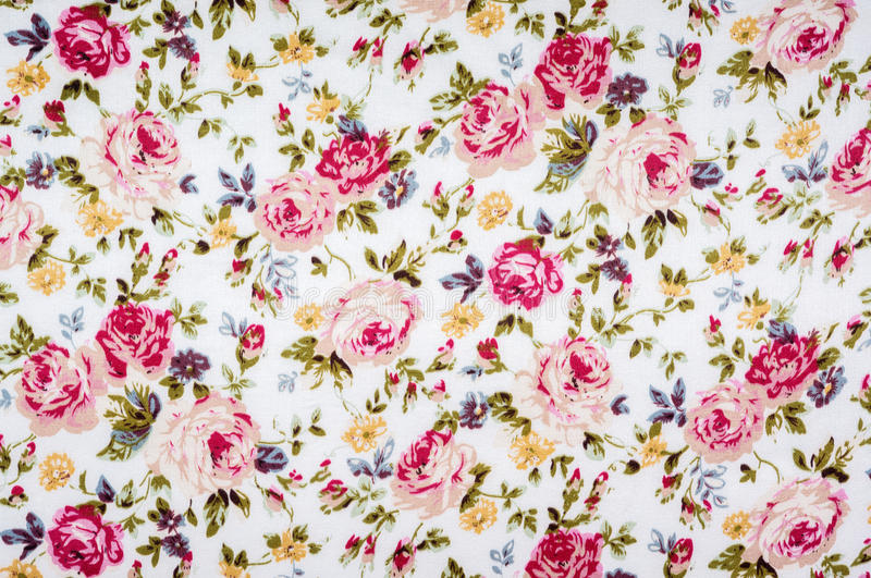 Floral pattern fabric royalty free stock photography
