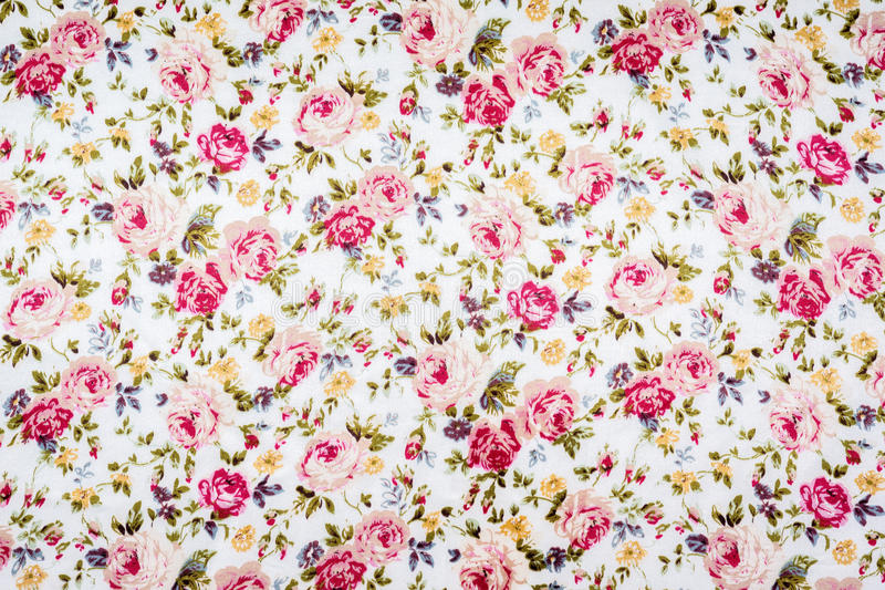 Floral pattern fabric royalty free stock images