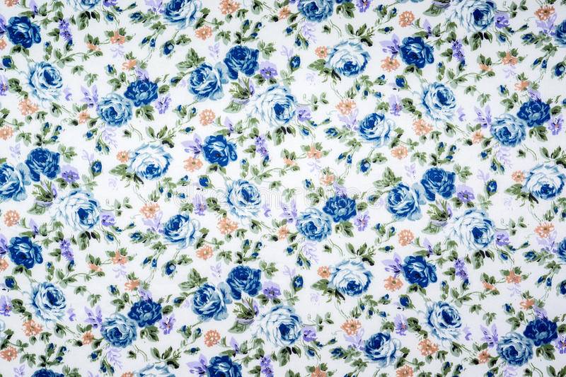 Floral pattern fabric. Texture, print and wale of fabric in seamless beautiful floral pattern royalty free stock photo