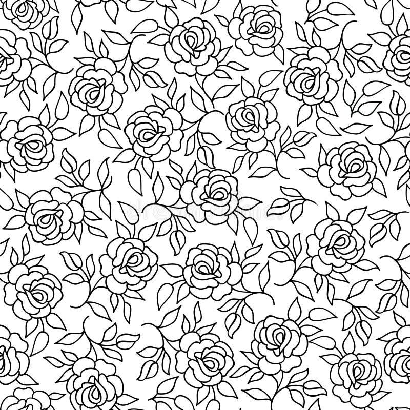 Floral pattern Flower rose outline background Flourish ornament vector illustration