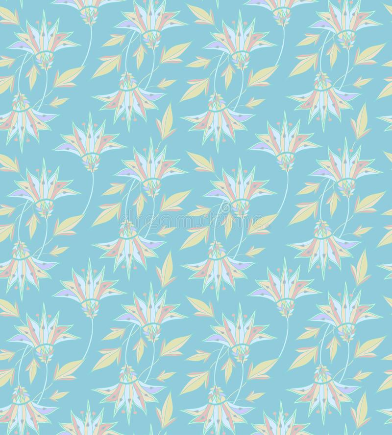 Floral pattern. Flower seamless background. Flourish ornamental garden. Seamless good for print textile fabric. For web vector illustration
