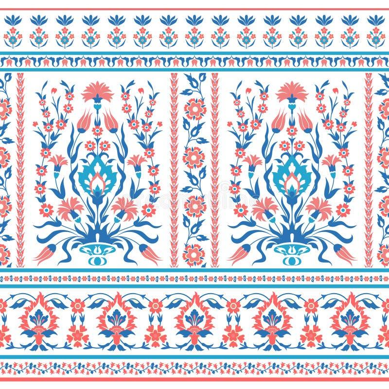 Floral pattern in folk style royalty free illustration