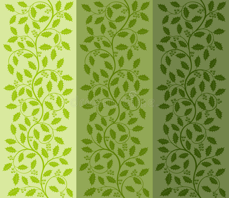 Floral Pattern With Ilex Stock Images