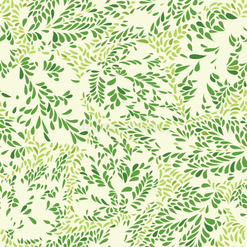Floral pattern leaves textured tiled background Ornamental flour. Floral leaves seamless pattern. Leaf textured background. Ornamental flourish tiled texture vector illustration