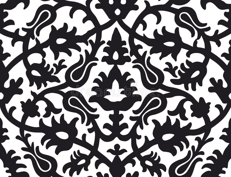 Floral_pattern_Northern_rus royalty-vrije illustratie