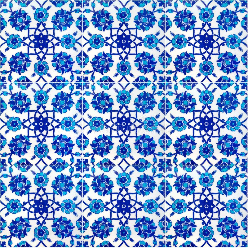 Download Floral Pattern On Old Turkish Tiles, Istanbul Royalty Free Stock Image - Image: 4692676
