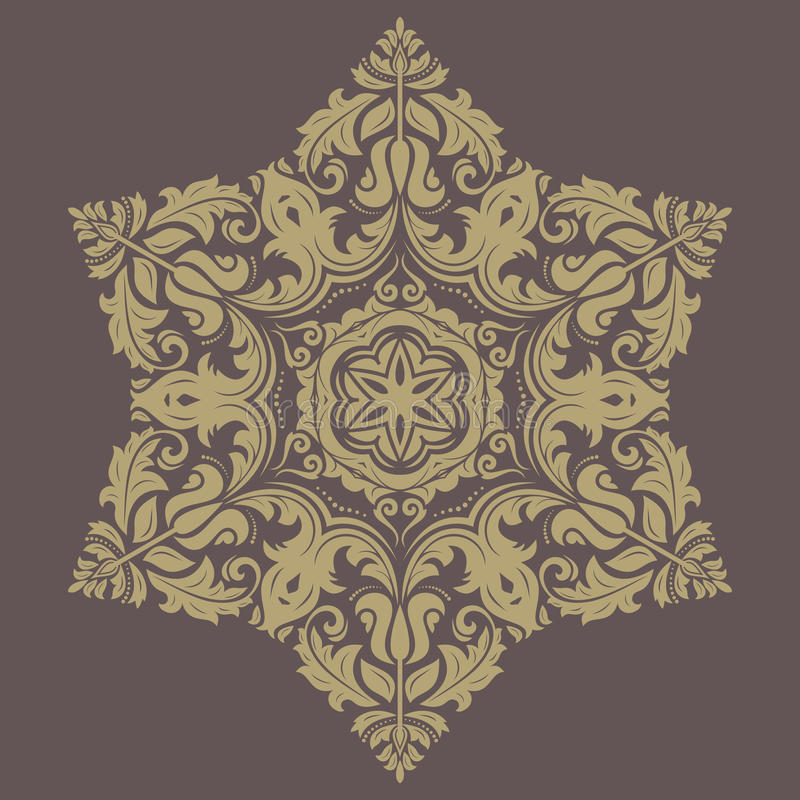 Floral Pattern. Orient Abstract Background royalty free illustration