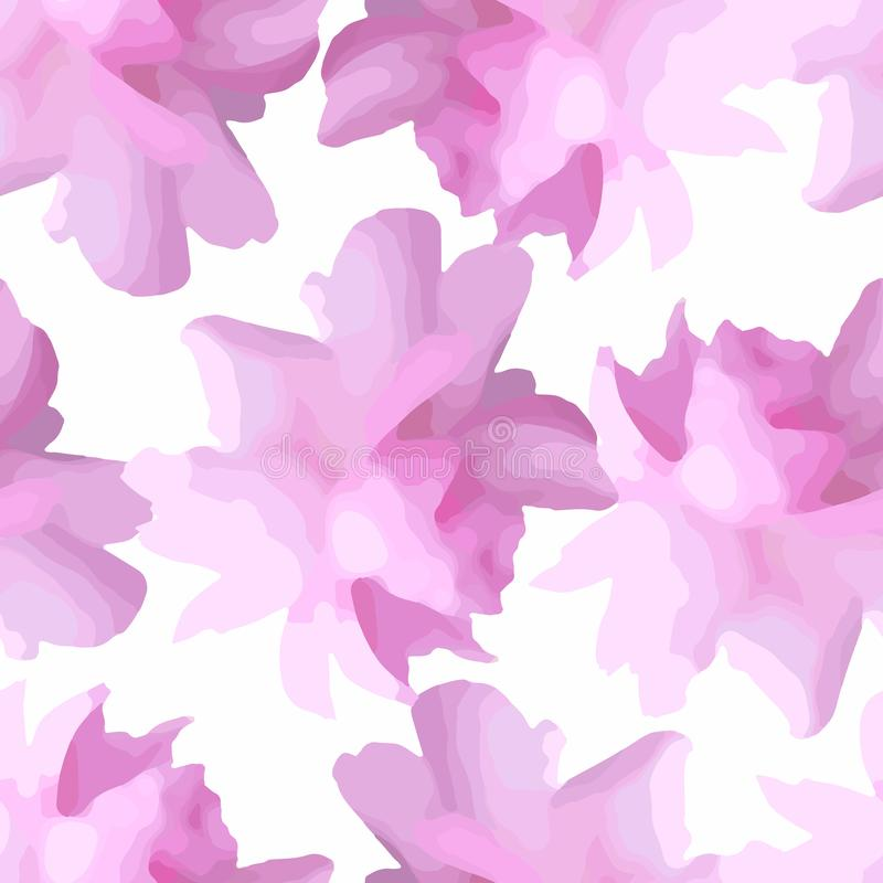 Floral Pattern with Peony or Roses Flowers vector illustration