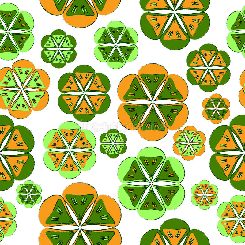 Floral pattern, seamless background. Floral pattern, colored seamless background vector illustration