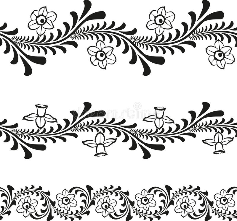 Download Floral pattern stock vector. Image of daffodil, decoration - 30414446