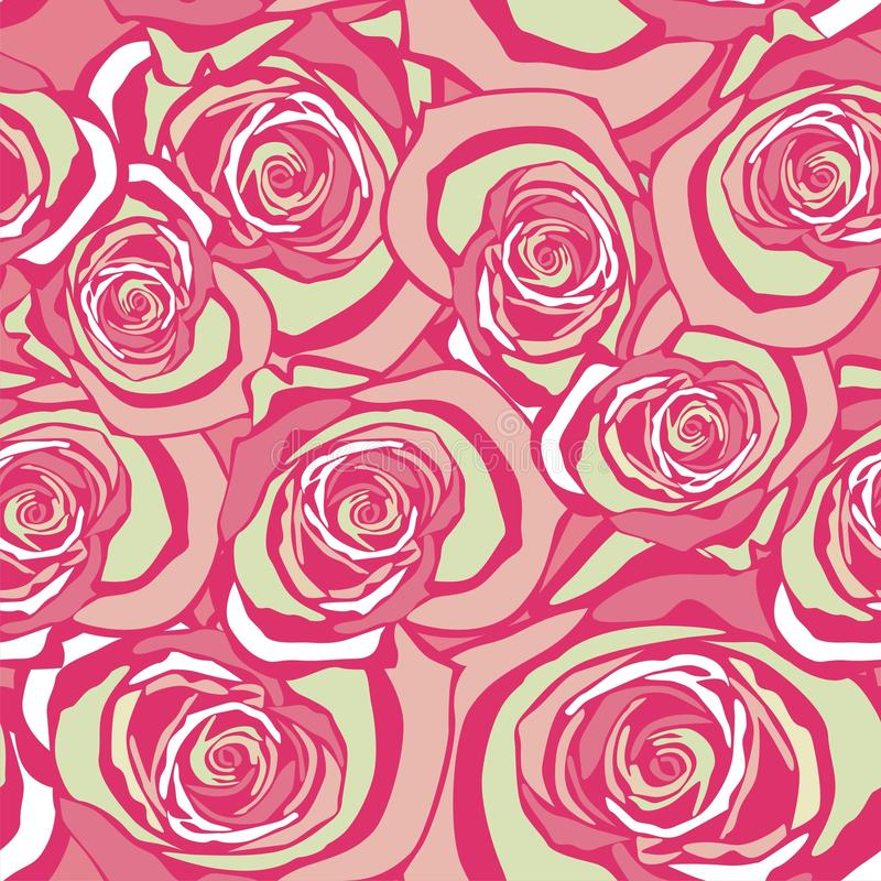 Floral pattern. Seamless texture with tracery floral pattern. Vector illustration stock illustration