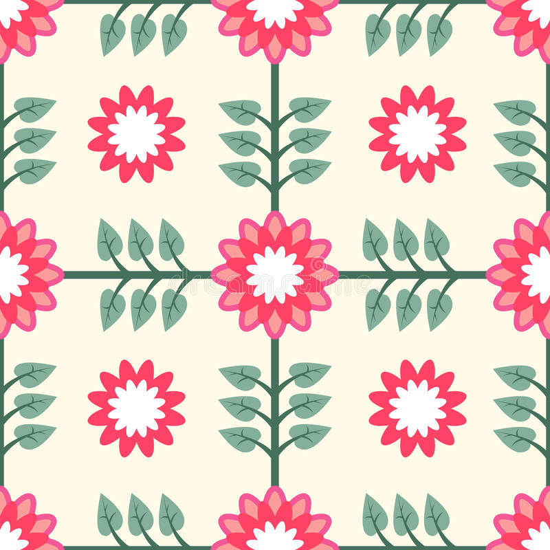 Download Floral Pattern Seamless Tile Royalty Free Stock Photography - Image: 25763287