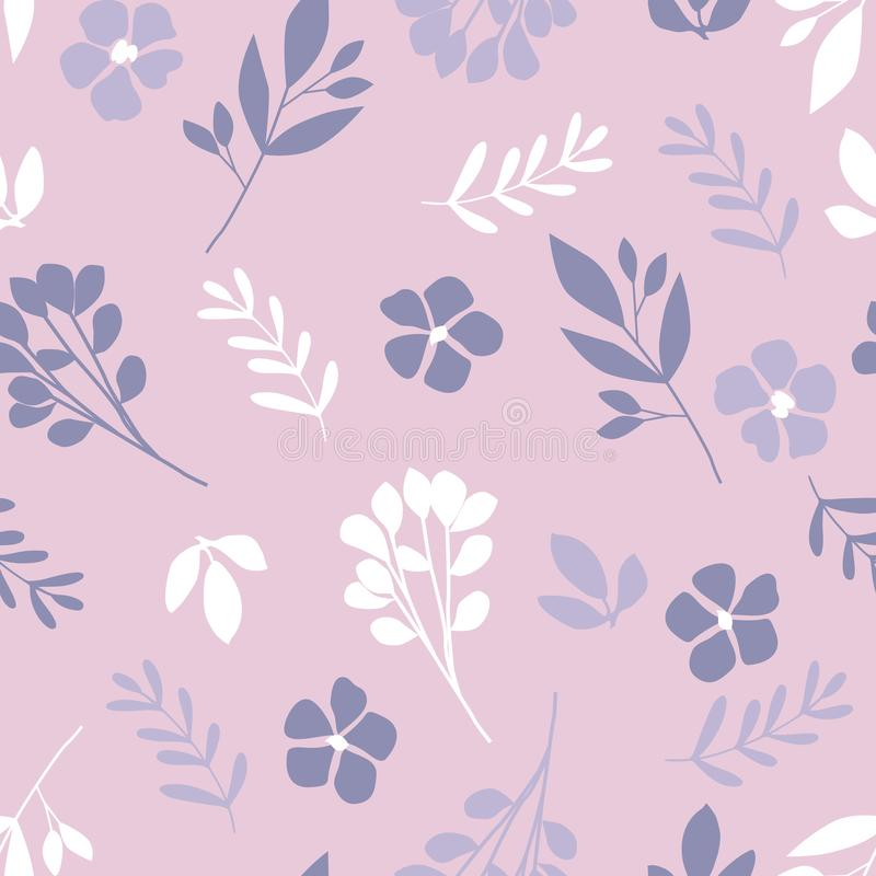 Floral pattern in the small flower. royalty free illustration