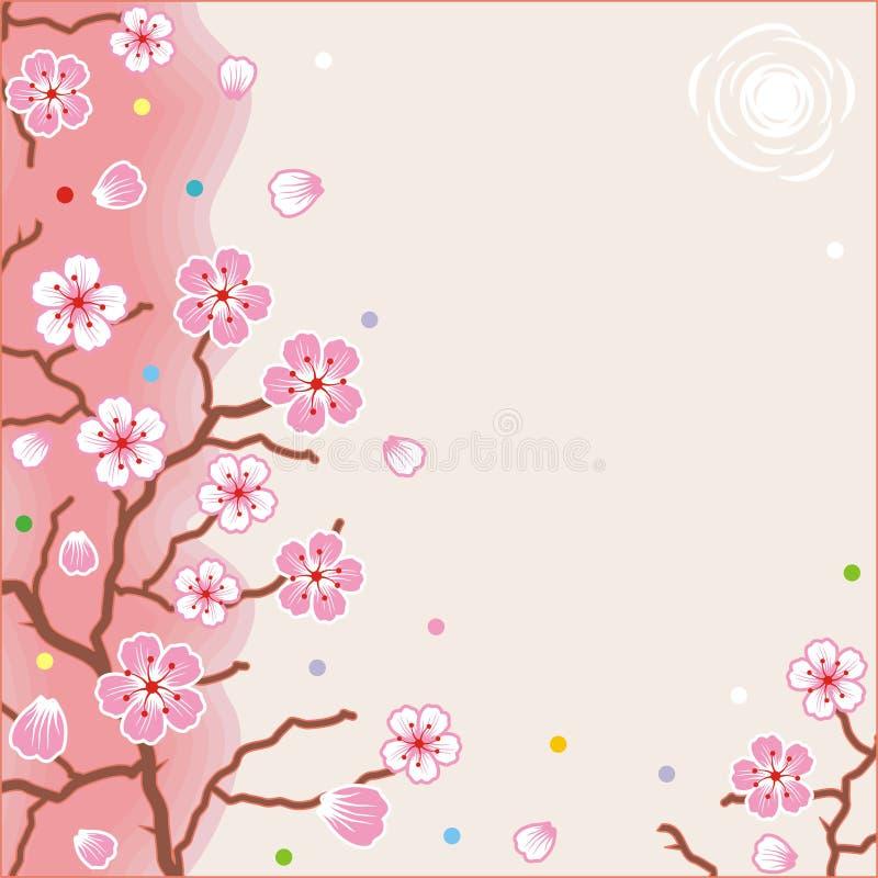 Floral pattern spring background royalty free illustration
