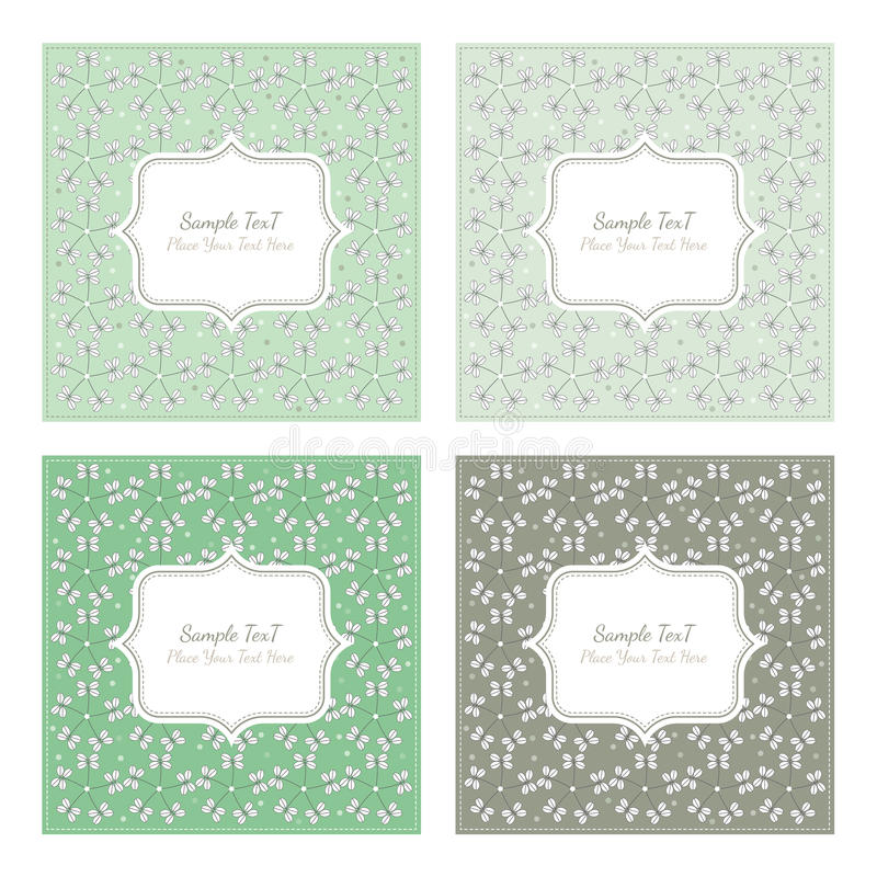 Floral pattern square backgrounds royalty free illustration