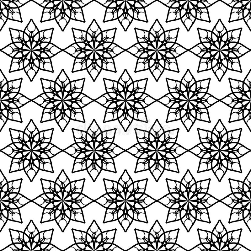 Floral pattern with stars vector illustration