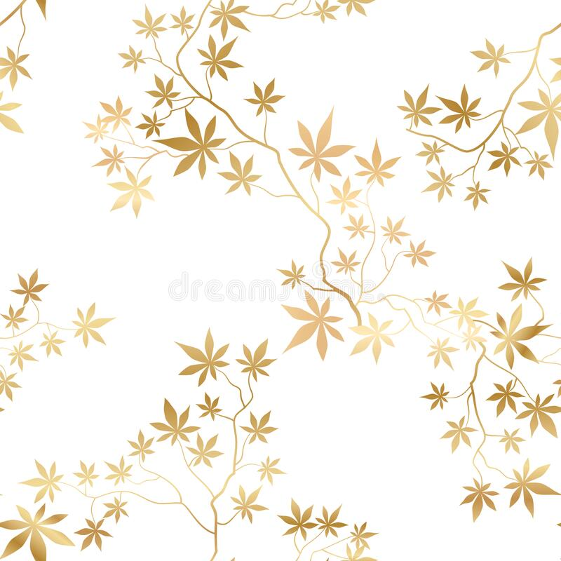 Free Floral Pattern With Leaves And Flowers In Elegant Retro Eastern Chinese Style. Abstract Seamless Floral Background. Flourish Royalty Free Stock Photos - 213379148