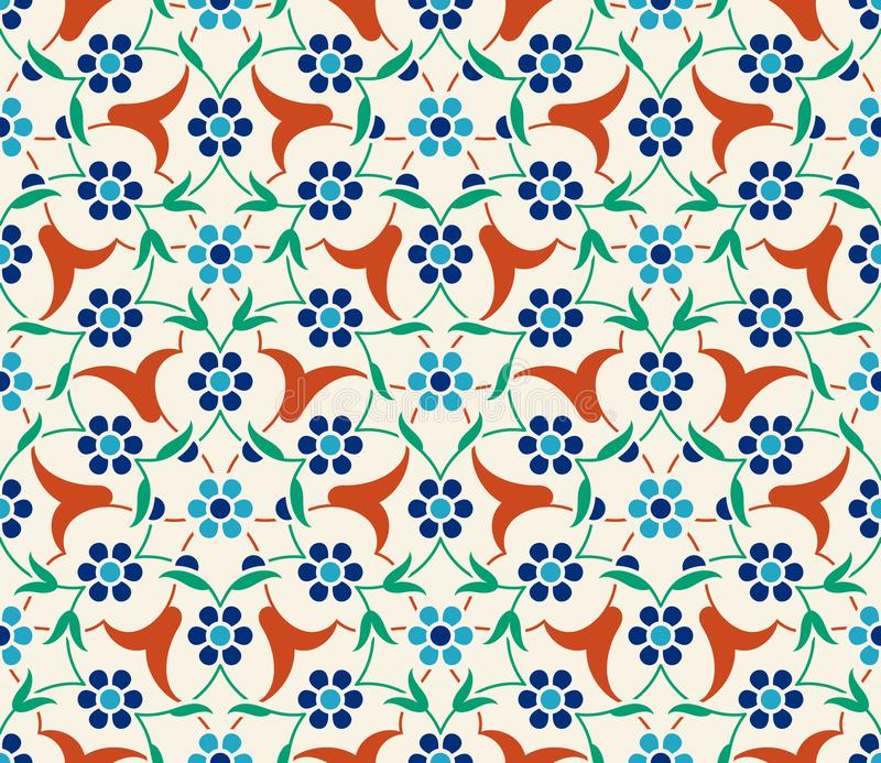 Floral pattern for your design. Traditional Turkish � Ottoman seamless ornament. Iznik. stock illustration