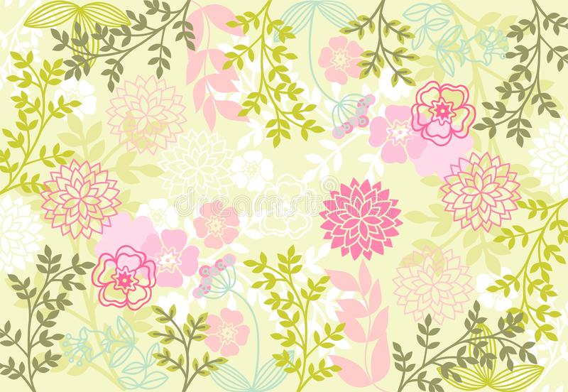 Download Floral patterns stock vector. Image of backdrop, plant - 10254933