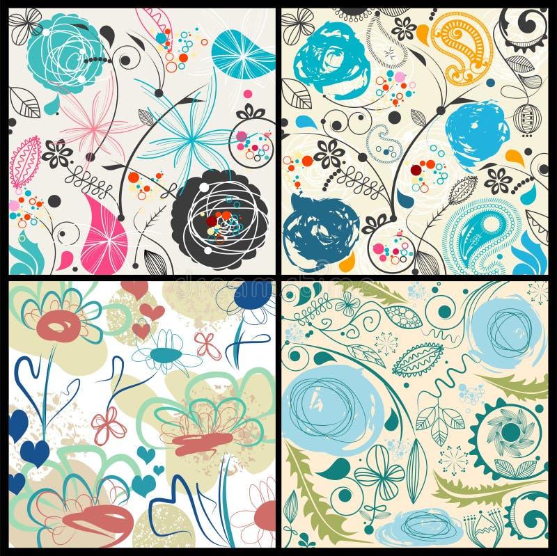 Download Floral Patterns Set Stock Photo - Image: 14532310
