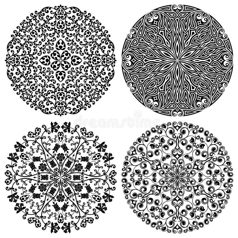 Download Floral patterns set stock vector. Illustration of pattern - 25850990