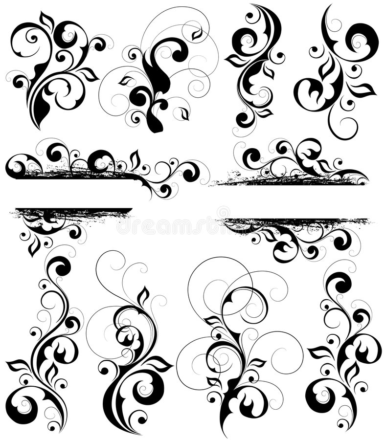 Free Floral Patterns Set Stock Photography - 7634142