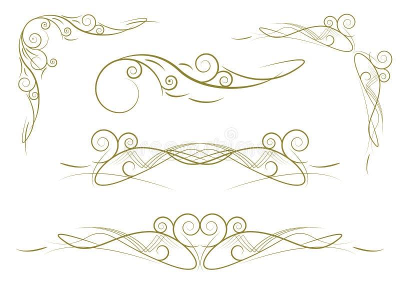 Floral Patterns Set royalty free illustration