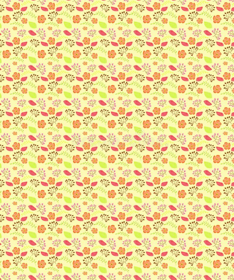 Floral Peach Seamless Pattern For Fabric Prints vector illustration