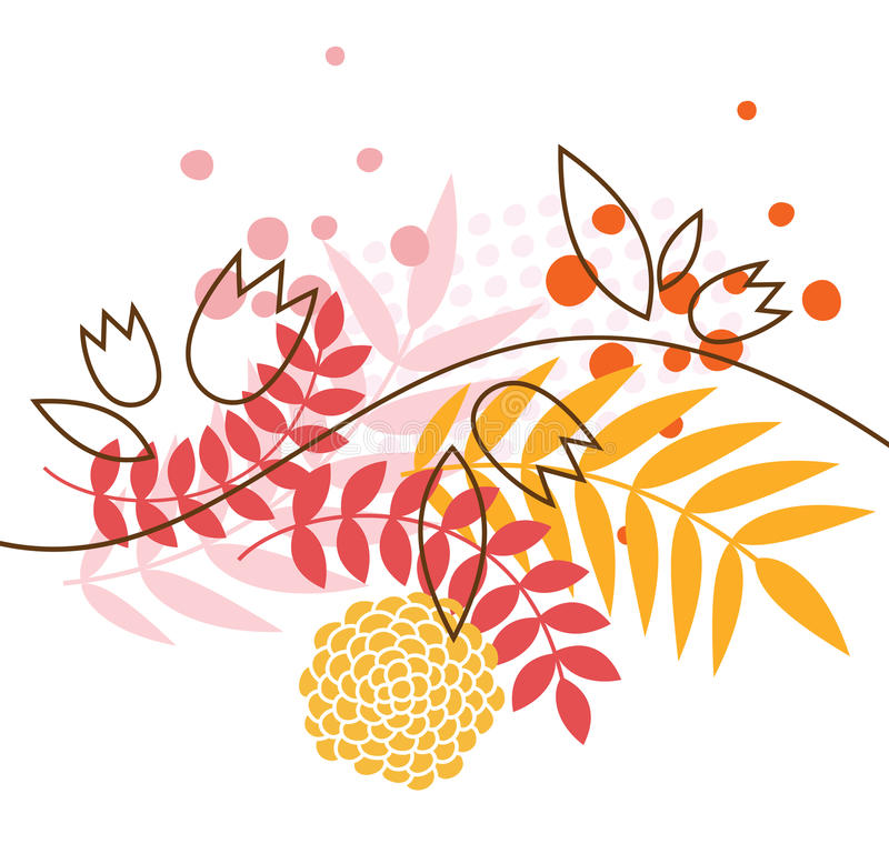 Floral picture vector illustration